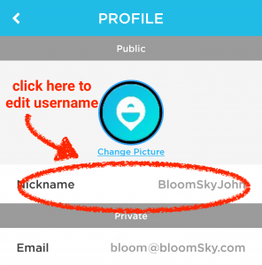 bloomsky profile screen