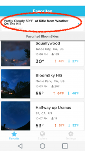 bloomsky weatherbuzz feed