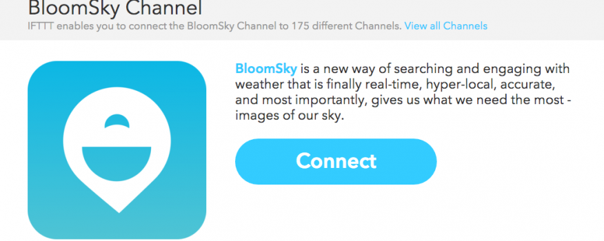 BloomSky and IFTTT: if [BloomSky] then [that]